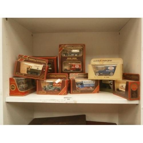 292 - Ten boxed models of yesteryear die-cast vehicles...