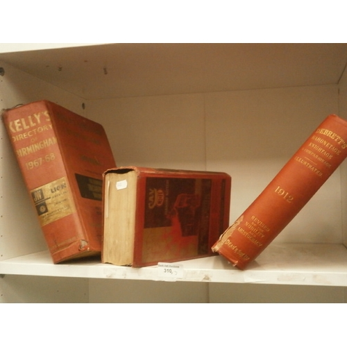 310 - Three vintage booke inc Kelly's directory of Birmingham 67-68, The Motor Transport year book, etc...
