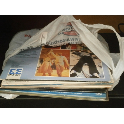 32 - Small collection of vinyl...