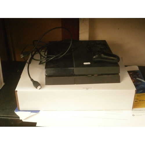 35 - Playstaion 4 with controller no power lead spare/repair...