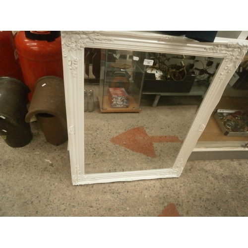382 - Large bevel edged mirror...