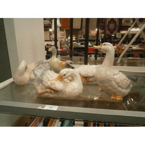 383 - Five duck ornamental figurines...