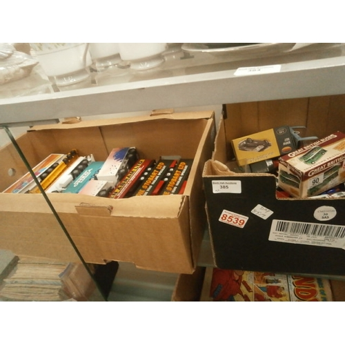 385 - Two boxes of model die-cast vehicles...