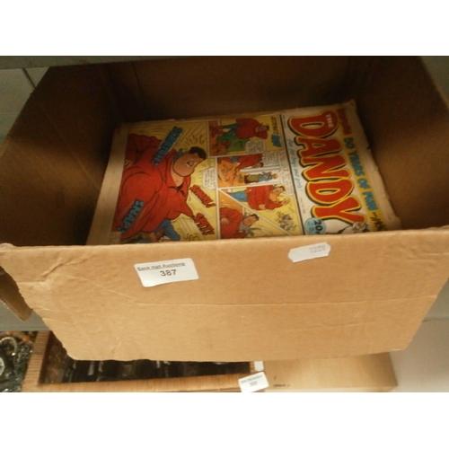 387 - Box of Dandy comics...