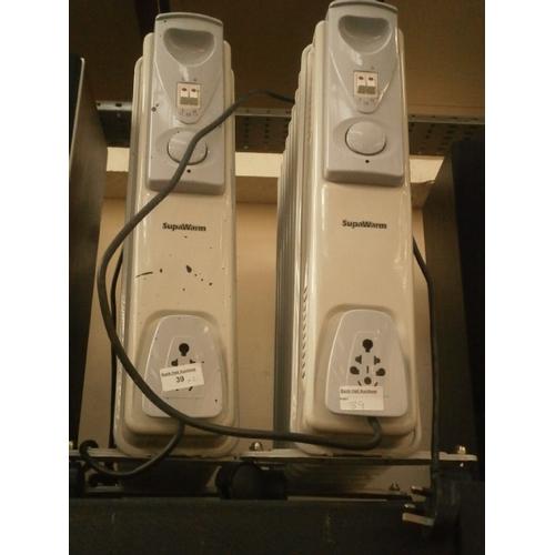 39 - Two supawarm oil filled radiators...
