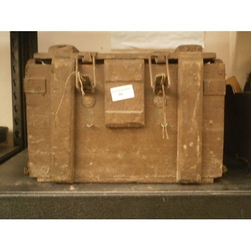 40 - Old wooden storage box...