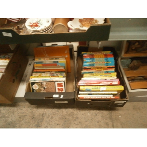 400 - Two boxes of annuals inc Beano, Shoot, etc...