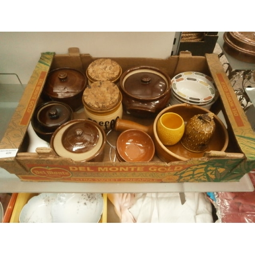 426 - Collection of stoneware pottery items...