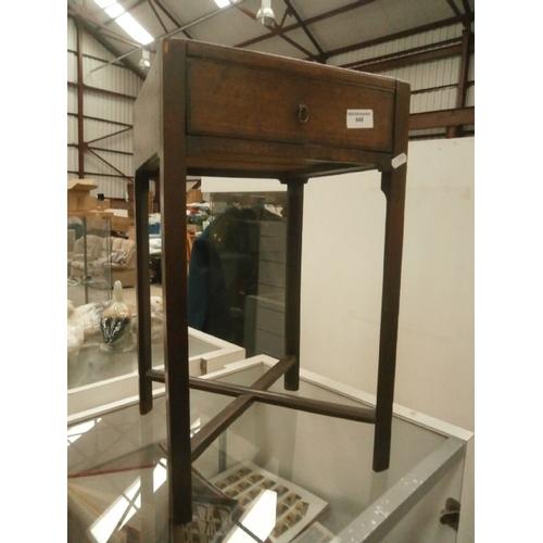 448 - Vintage oak lamp table...