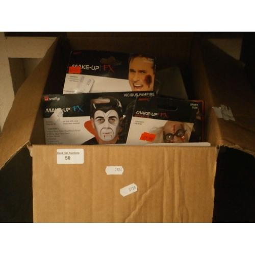50 - Box of Halloween makeups...
