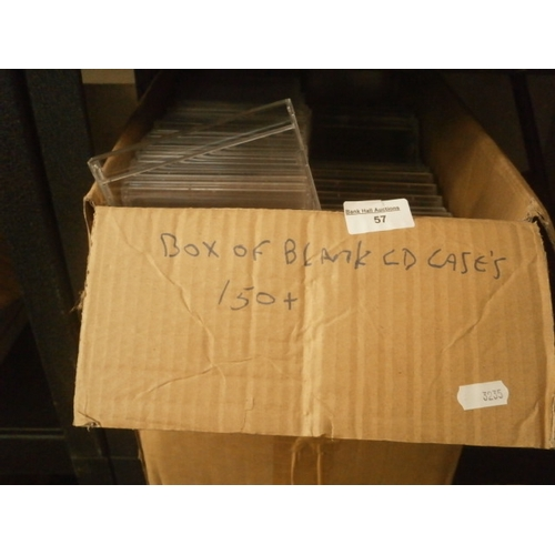 57 - Box of blank CD cases...