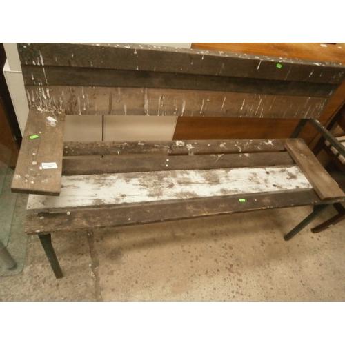 641 - Metal framed bench...