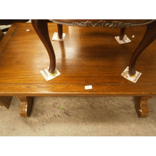 659 - Large solid wooden coffee table...