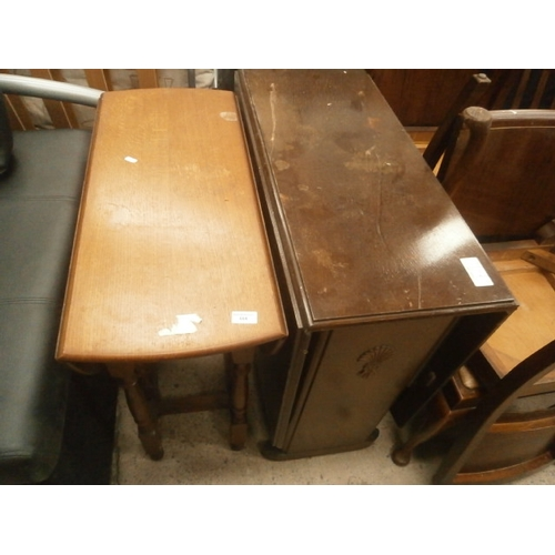 684 - 2 x vintage dining tables...
