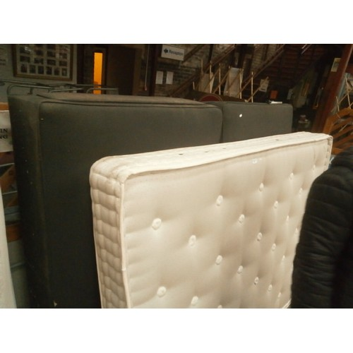 745 - Double divan bed with mattress...