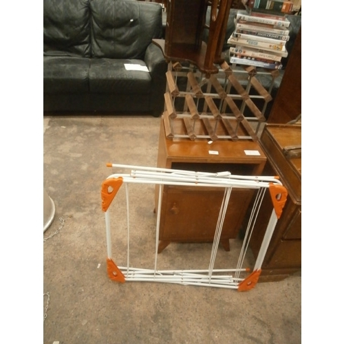 697 - 4 x items including wine rack and bedside cabinet...