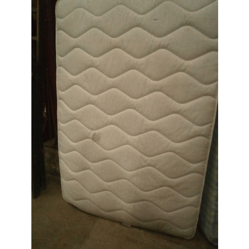 725 - Double divan bed with mattress...