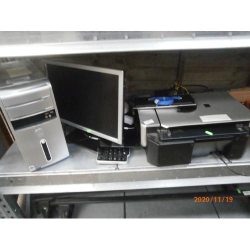 10 - Lot inc Windows Vista computer tower wit6h keyboard monitor and printer...