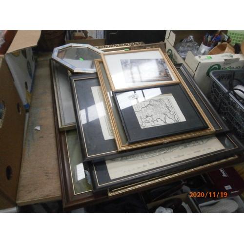 198 - Collection of framed artwork...