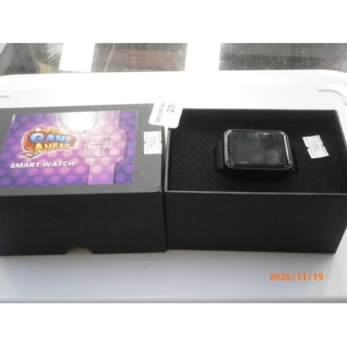 236 - Boxed smart watch in working order...