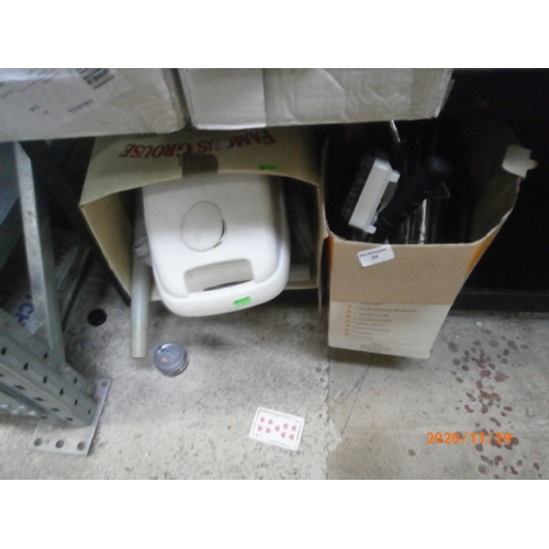 24 - Lot inc compact vacuum and attachments...