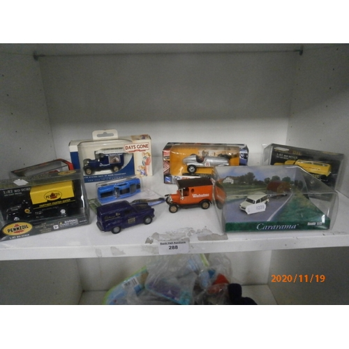 288 - Seven boxed collectable die-cast vehicles and two others...