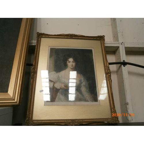 297 - Vintage gilt framed portrait...