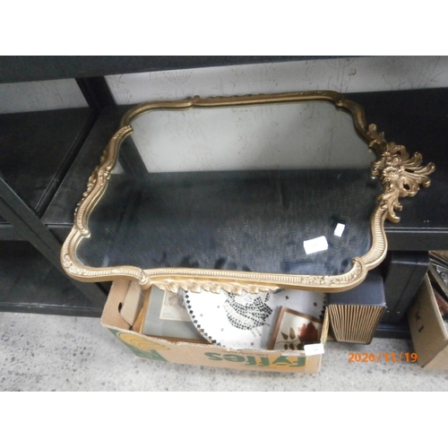 325 - Ornate gilt framed mirror...