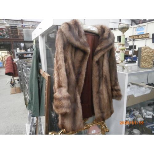 362 - Ladies faux fur coat...