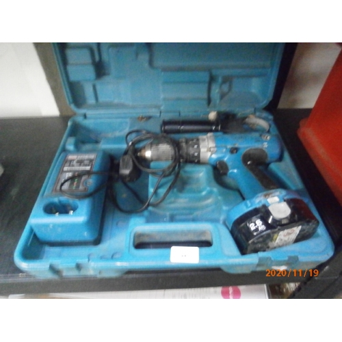 39 - Makita cordless drill with case as found...
