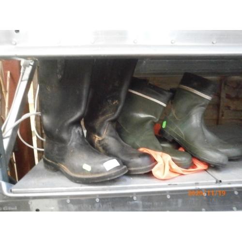 6 - Three pairs of wellies...