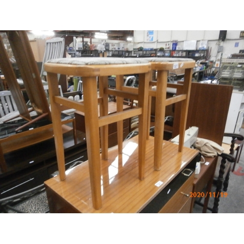 655 - Pair of tall kitchen stools...