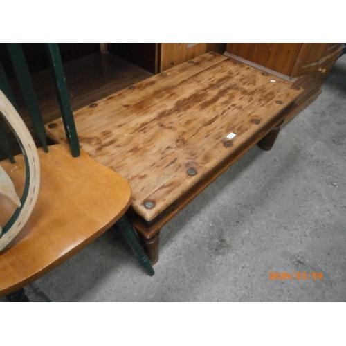 677 - Sheesham style coffee table...