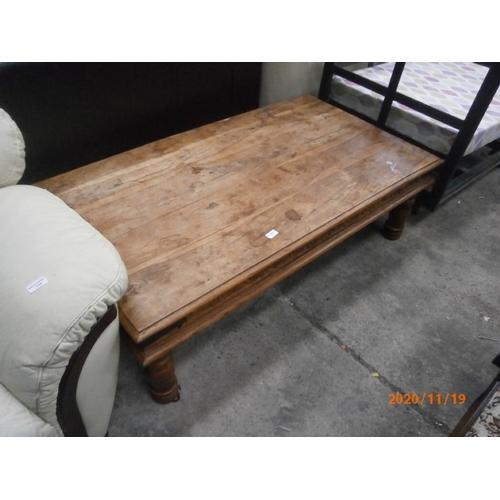717 - Large Sheesham style coffee table...