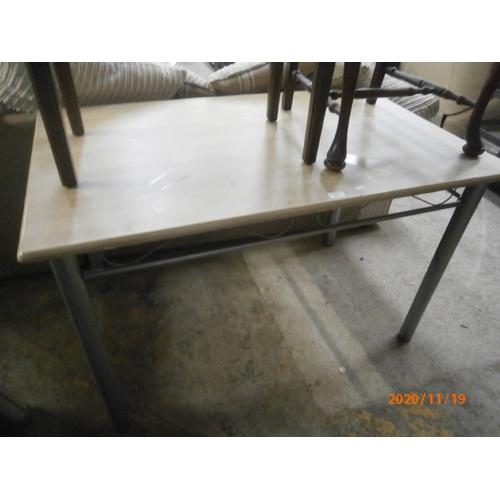 724 - Modern metal framed table...