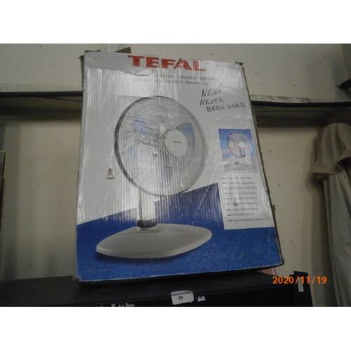 90 - Boxed Tefal table fan...