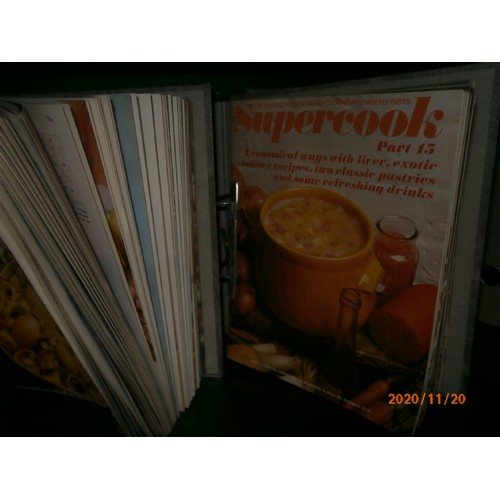 95 - Collection of super cook magazines in binders...
