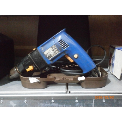 10 - AEG 500w electric drill with case working...