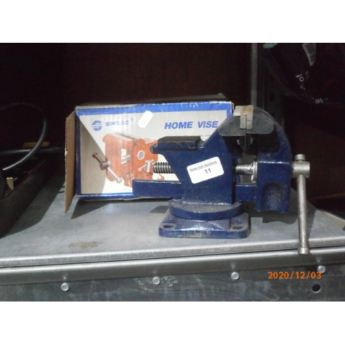 11 - SMIEC 3.5 inch bench vice...