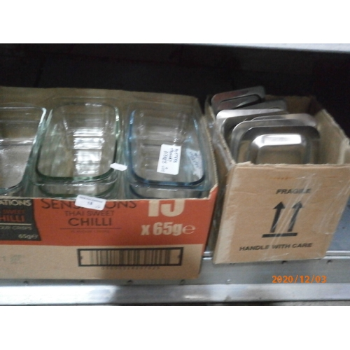 18 - 11 Hostess trolley dishes with lids...
