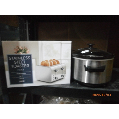27 - 4 slice toaster & slow cooker in working condition...