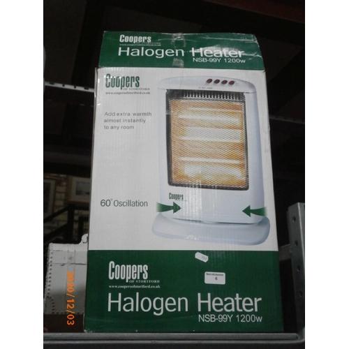 6 - 1200w Halogen Heater...