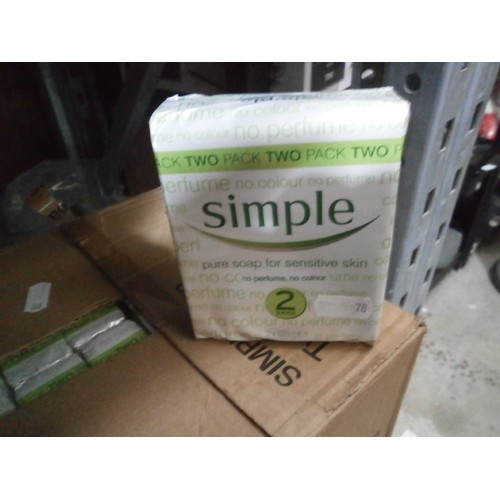 16 - 25 twin packs of Simple soap for sensitive skin...