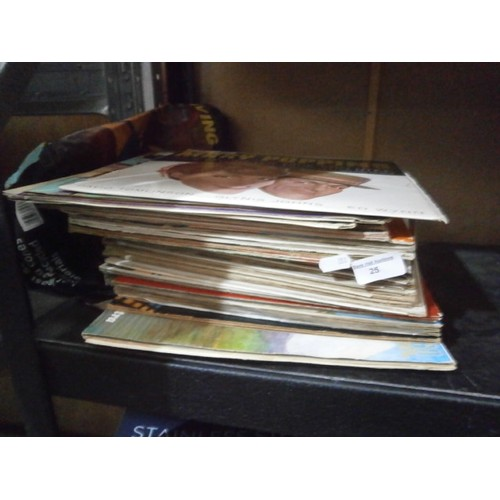 25 - Selection of LP records...