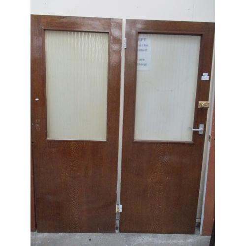 1025 - Pair glazed doors 30 x 78 inch...