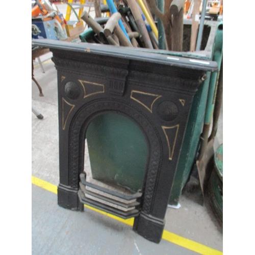 1029 - Vintage cast iron fire surround...