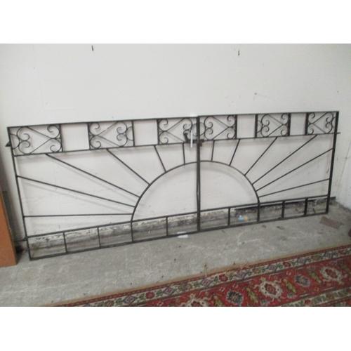 1033 - Pair wrought iron gates 93 x 34 inches...