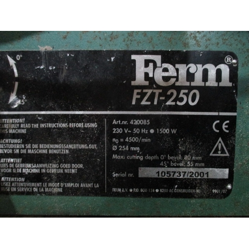 1057 - Ferm FZT-250 Table saw in working order
