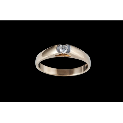 16 - A SOLITAIRE DIAMOND RING, mounted in 9ct gold...