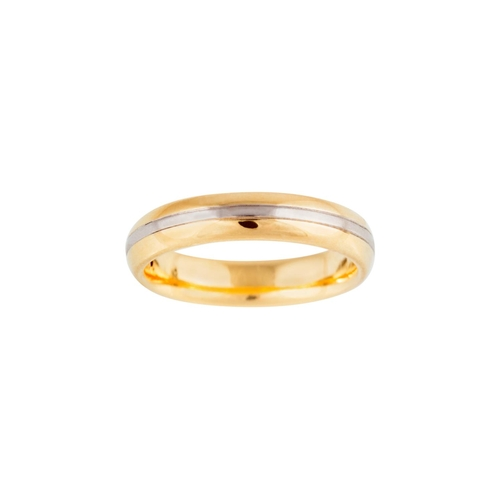 2 - A DIAMOND SET BAND RING, mounted in 18ct yellow gold...